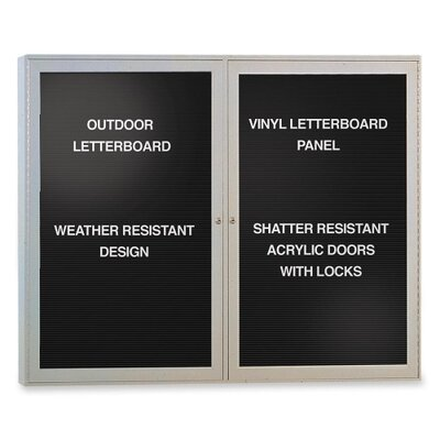 Ghent Outdoor Enclosed Letter Board, 4' x 3'