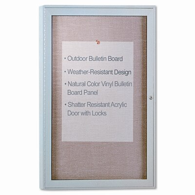Ghent Enclosed Bulletin Board, 4' x 3'