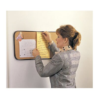 Ghent Wall Mounted Bulletin Board, 2' x 2'