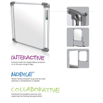 Ghent Nexus Tablet Double-Sided Portable Wall Mounted Whiteboard, 2' x 2'