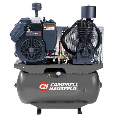 Campbell Hausfeld 30 Gallon Truck Mounted Air Compressor with Kohler Engine