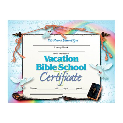 Hayes School Publishing Vacation Bible School Certificate