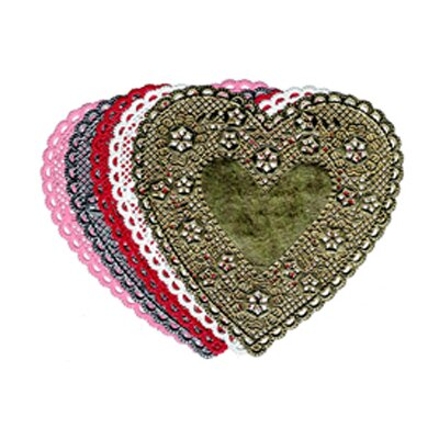Hygloss Products Inc Doilies 6 Pink Hearts
