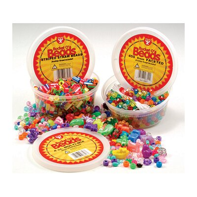 Hygloss Products Inc Bucket O Beads Multi Mix 10 Oz of m