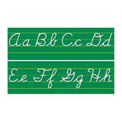 Northstar Teacher Resource Alphabet Lines Contemporary Cursive Bulletin Board Cut Out