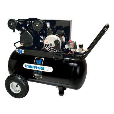 Powermate 20 Gallon Horizontal Cast Iron Oil Lubricated Belt Drive Industrial Air Compressor