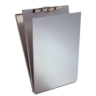 """Saunders Form Holder with Top Opening Storage Compartment, 8-1/2""""x14"""",Aluminum"""