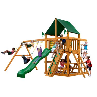 Chateau II with Amber Posts and Canopy Cedar Swing Set Product Photo