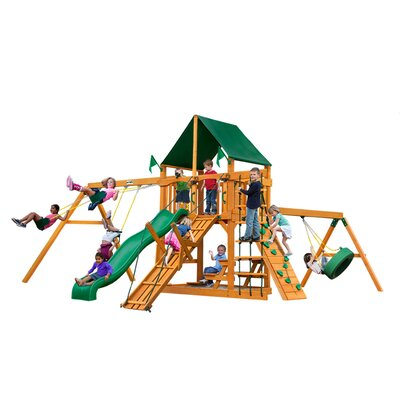 Frontier with Amber Posts and Canopy Cedar Swing Set Product Photo