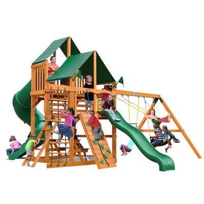 Great Skye I with Amber Posts and Canopy Cedar Swing Set Product Photo