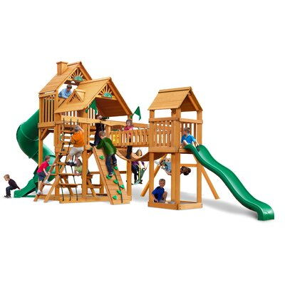 Treasure Trove with Amber Posts Cedar Swing Set Product Photo