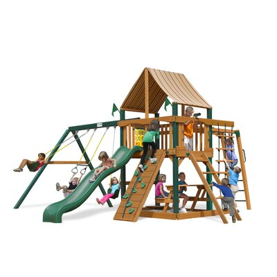 Navigator Swing Set with Western Ginger Sunbrella Canopy Product Photo