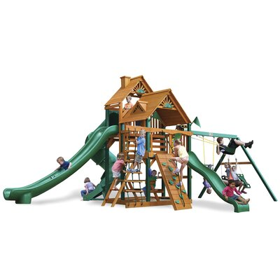 Great Skye II Swing Set with Wood Roof Canopy Product Photo