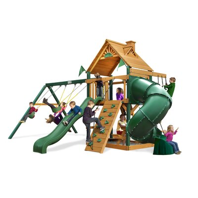 Mountaineer Swing Set with Wood Roof Canopy Product Photo