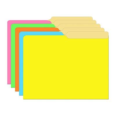 Top Notch Teacher Products Brite Assorted Mini File Folders