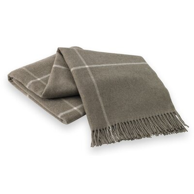 Lands Downunder Italian Cashmere and Lambswool Plaid Natural Fiber Throw