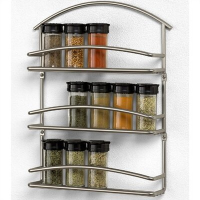 Spectrum Diversified Euro Wall Mount Spice Rack in Satin Nickel