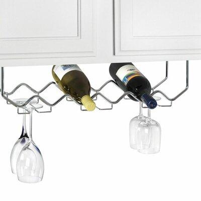 6 Bottle Hanging Wine Rack by Spectrum Diversified