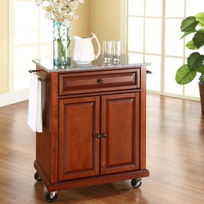 Cuisine Kitchen Cart with Granite Top by Crosley