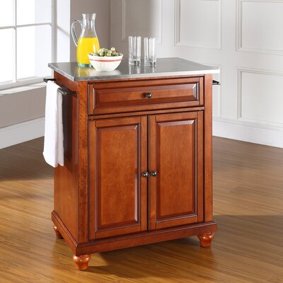 Cambridge Kitchen Cart with Stainless Steel Top Product Photo