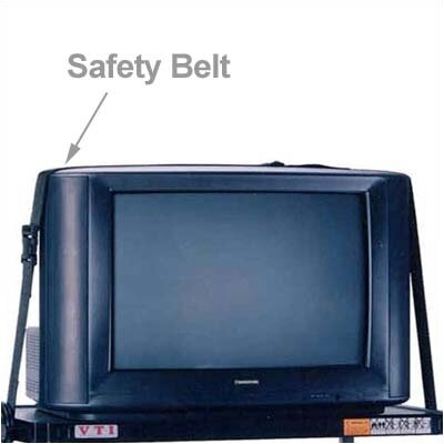 VTI AV Cart Safety Belts - 8'