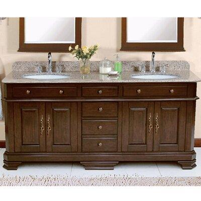 "Perkin 72"" Double Bathroom Vanity Set Product Photo"