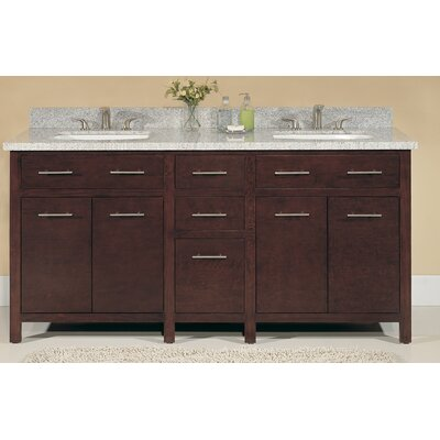 "Blanco 72"" Double Bathroom Vanity Set Product Photo"