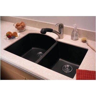 "Swanstone Swanstone Classics 32"" x 21"" Undermount Double Bowl Kitchen Sink"