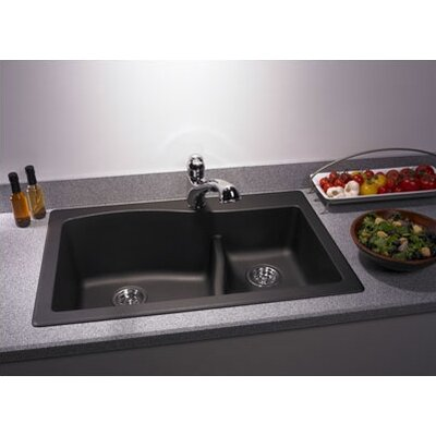 "Swanstone Classics 33"" x 22"" Large/Small Bowl Kitchen Sink Product Photo"