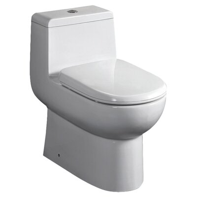 Antila Dual Flush 0.8 GPF / 1.6 GPF Elongated 1 Piece Toilet with Soft Close Seat Product Photo