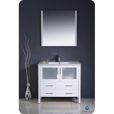 "Fresca Torino 36"" Single Modern Bathroom Vanity Set with Mirror"