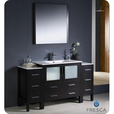 "Fresca Torino 60"" Single Modern Bathroom Vanity Set with Mirror"