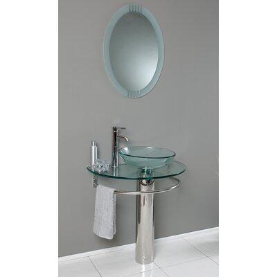 Fresca vetro 30 single attrazione modern bathroom vanity for Levi 29 5 single modern bathroom vanity set