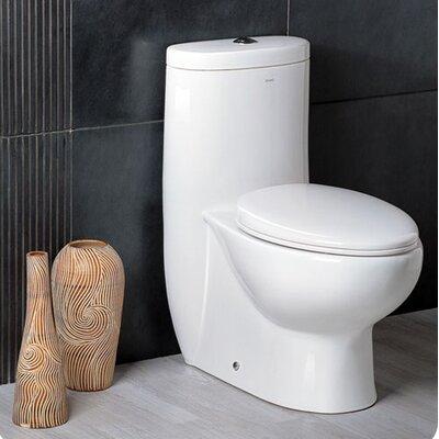 Delphinus Dual Flush 0.8 GPF / 1.6 GPF Elongated 1 Piece Toilet with Soft Close Seat Product Photo