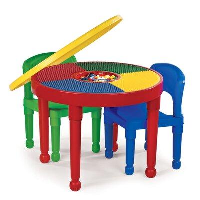 "Tot Tutors 4 Piece 23"" Round Classroom Table & Chair Set"