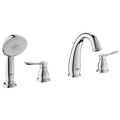 Parkfield Double Handle Widespread Roman Tub Faucet with Handshower Product Photo
