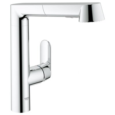 Grohe K7 Single Handle Single Hole Standard Kitchen Faucet with Water Care and Pull Out Spray
