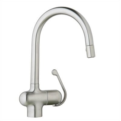 Ladylux Single Handle Single Hole Standard Kitchen Faucet with Dual Spray Pull Out Product Photo