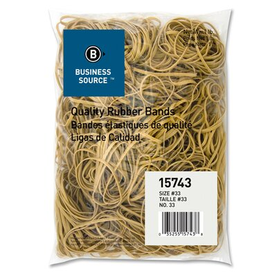 Business Source Rubber Bands, Size 10, 1 lb Bag, Natural Crepe