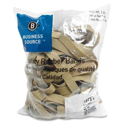 Business Source Rubber Bands, Size 105, lLB/BG, Natural Crepe