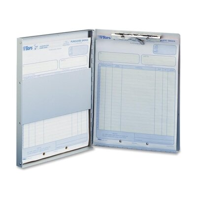 """Business Source Form Holder w/ Storage, Side Opening, 8-1/2""""x12"""", Aluminum"""