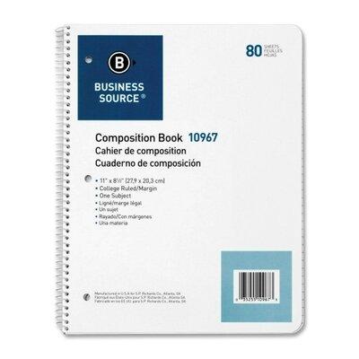 Business Source 80 Sheet Notebook