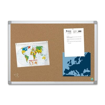 Bi-silque Visual Communication Product, Inc. Mastervision Wall Mounted Bulletin Board, 4' x 6'