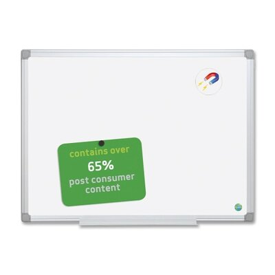 Bi-silque Visual Communication Product, Inc. Earth It Wall Mounted Magnetic Whiteboard, 4' x 6'