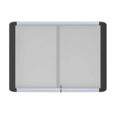 Bi-silque Visual Communication Product, Inc. Enclosed Magnetic Whiteboard, 3' x 4'