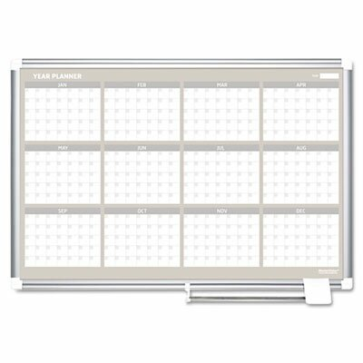 Bi-silque Visual Communication Product, Inc. Mastervision 12 Month Year Calendar/Planner Magnetic Whiteboard, 2' x 3'