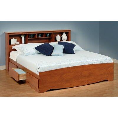 Cherry Monterey King Storage Panel Bed by Prepac