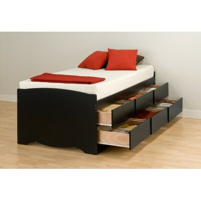 Twin Captain's Bed with Drawers by Prepac