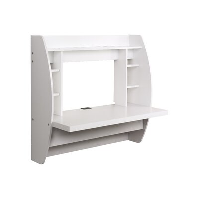 Prepac Floating Writing Desk with Storage
