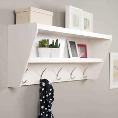Floating Entryway Shelf & Coat Rack by Prepac